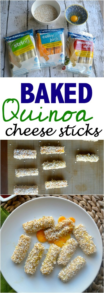 Quinoa Baked Cheese Sticks