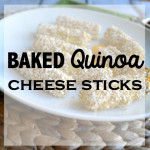 Baked Quinoa Cheese Sticks