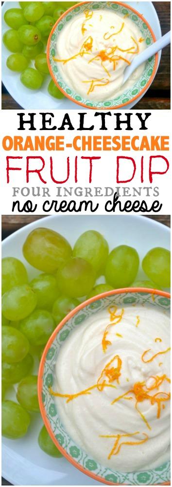 Healthy 4 Ingredient Orange Cheesecake Dip