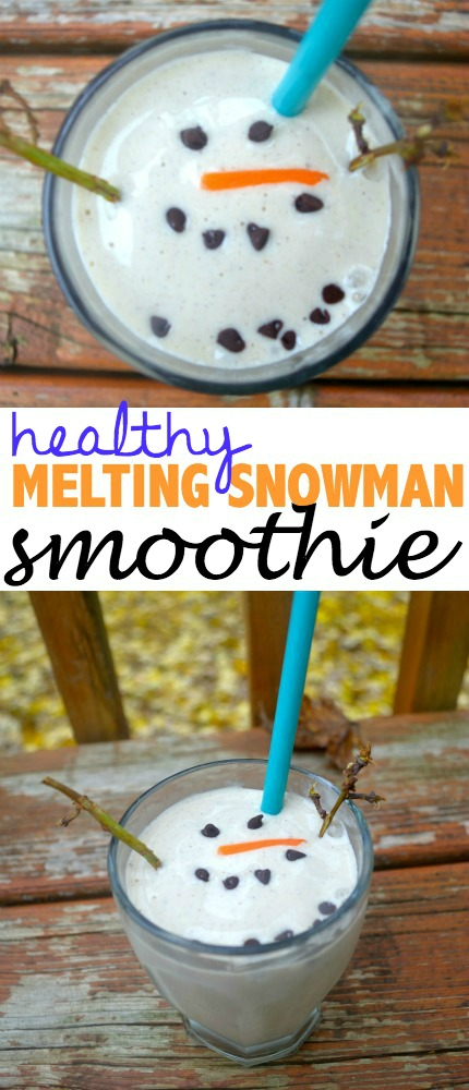 Healthy Melting Snowman Smoothie