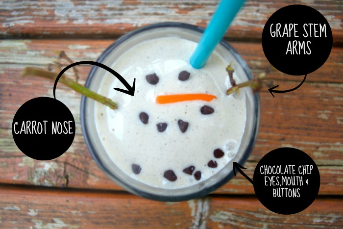 Healthy Melting Snowman Smoothie111