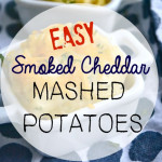Easy Smoked Cheddar- Mashed Potatos & Oval Le Creuset Stoneware Dish Giveaway