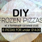 DIY Frozen Pizzas- With a Cornmeal Crust