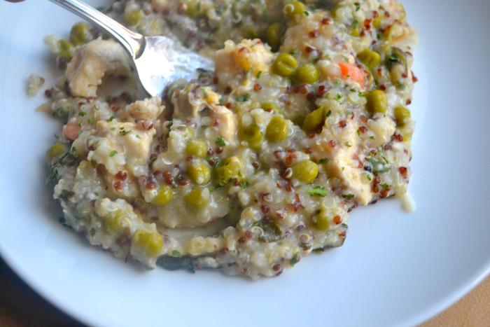 One Pot QUinoa chicken and peas