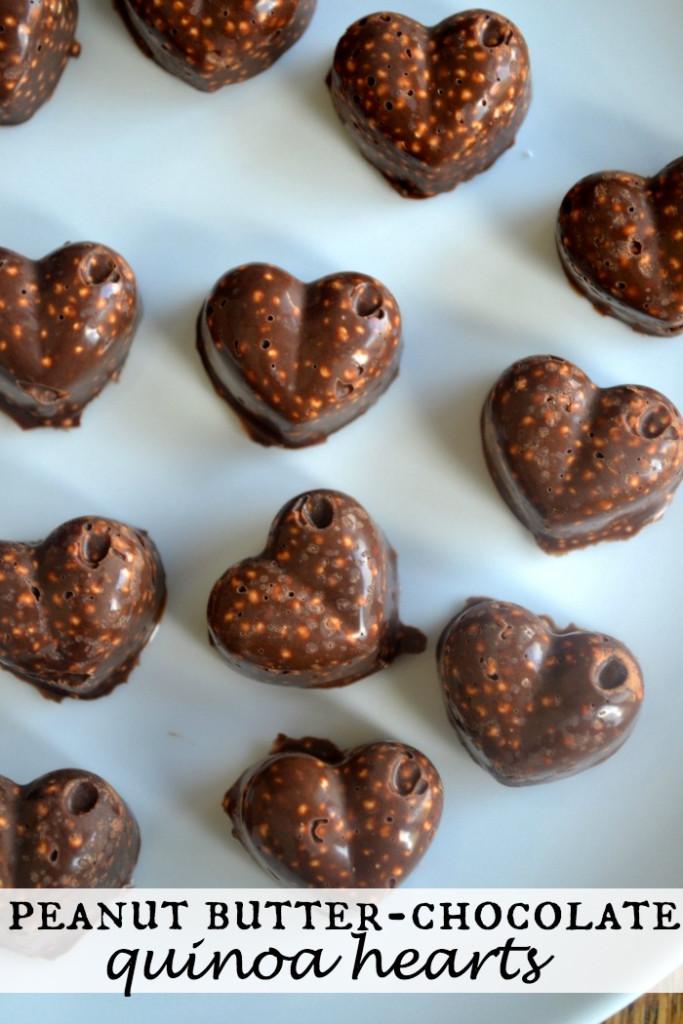 Quinoa PB Chocolate Hearts