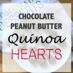 Peanut Butter-Chocolate Quinoa Hearts