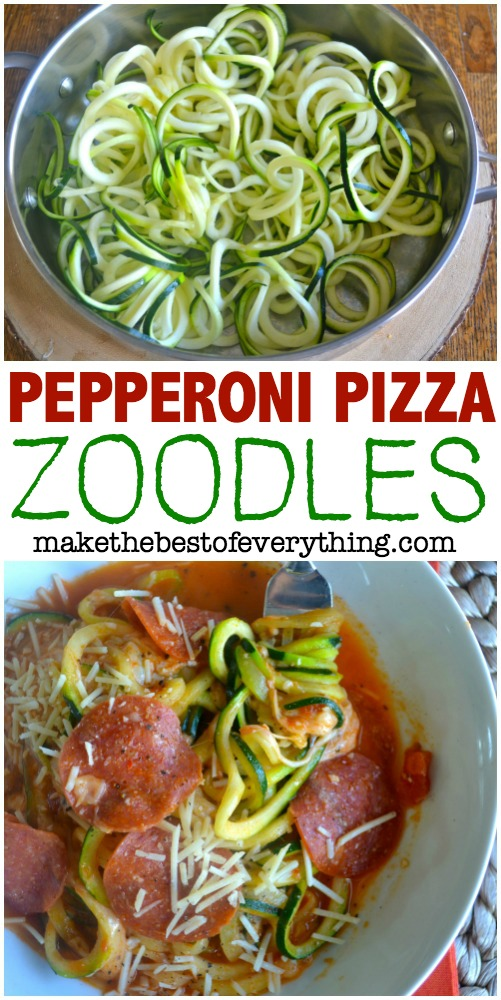 Pepperoni Pizza Zoodle Bowl 0