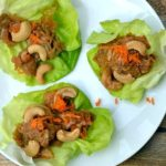Cashew Chicken Lettuce Wraps- Slow Cooker or Pressure Cooker