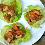 Cashew Chicken Lettuce Wraps- Slow Cooker or Pressure Cooker