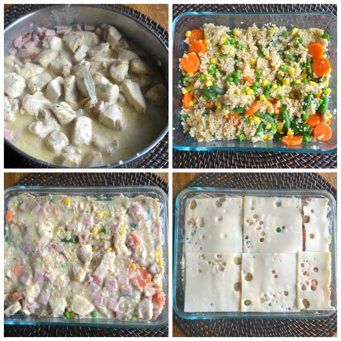 Chickencordonbleucasserole collage