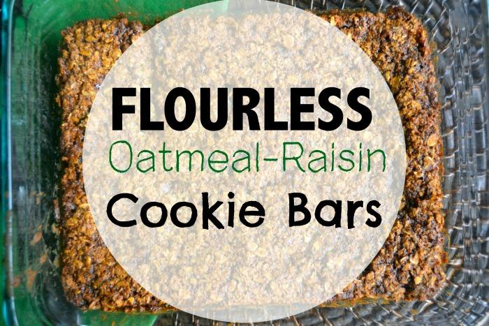 flourless oatmeal raisin 1cookie bars