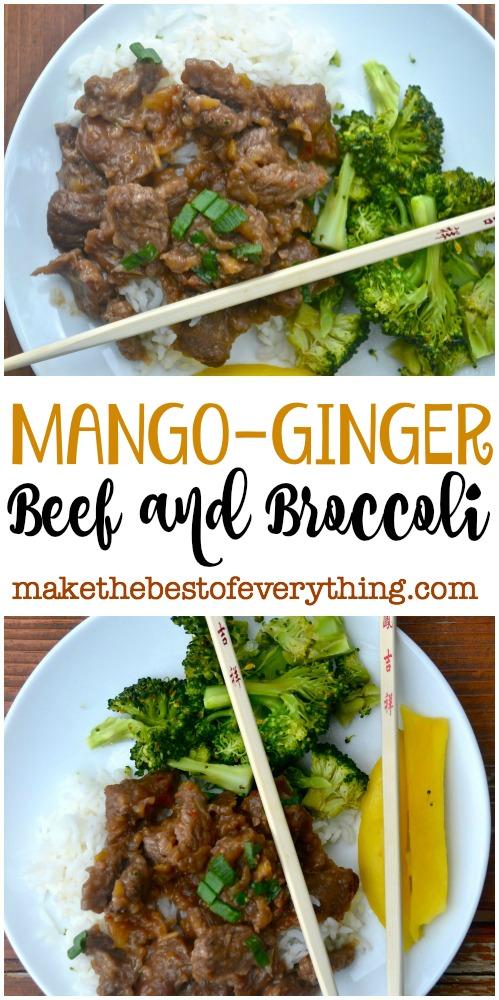 Mango Ginger Beef and Broccoli