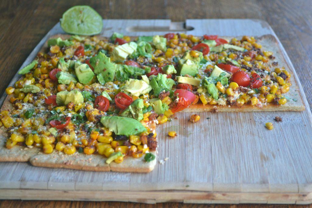 Mexican Steet Corn and Chorizo Flatbread