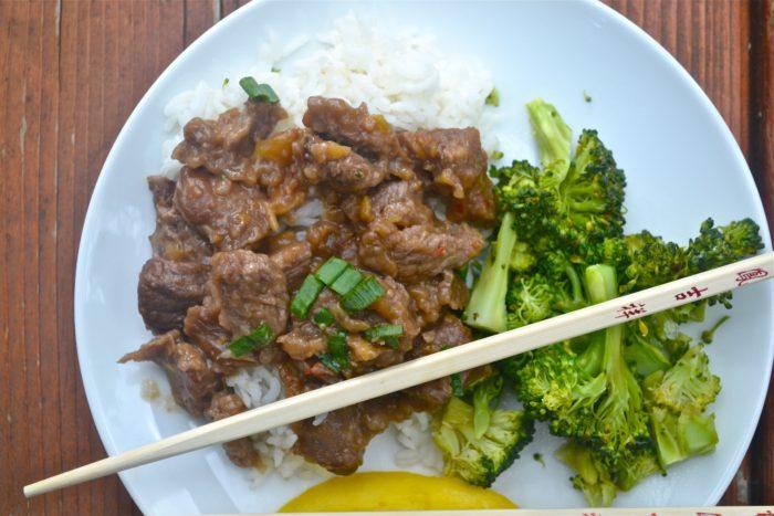 mango beef rice