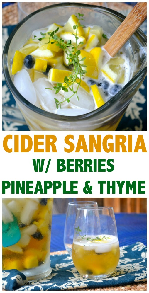 Hard Cider Sangria with Thyme