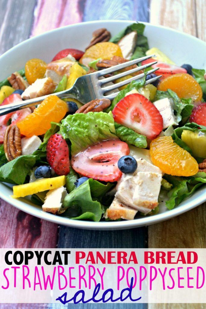 Copycat Panera Bread Strawberry Poppyseed Salad