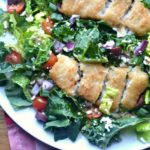 Crispy Fish Fillet Greek Salad
