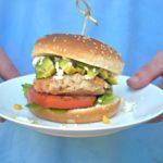 Pressure Cooker Salsa Chicken Burgers