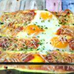 Italian Baked Eggs Zucchini Boats