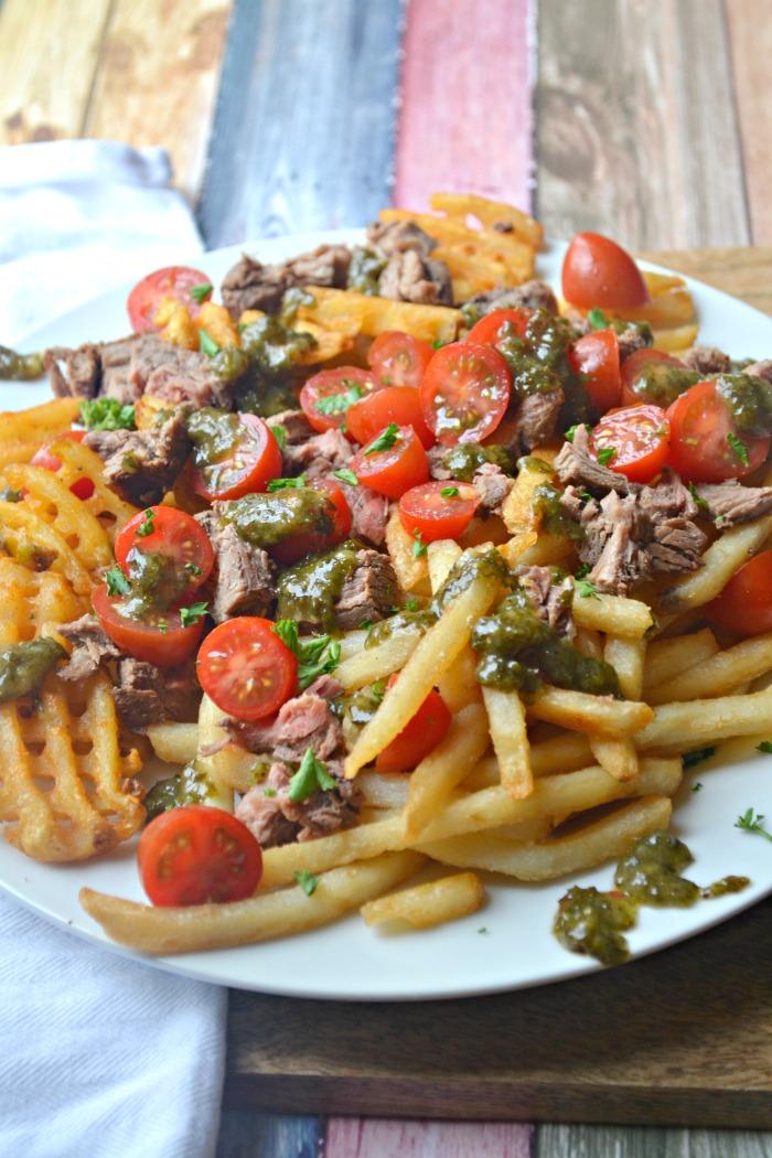 Chimichurri Steak Loaded Fries