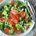 Pepperoni Pizza Loaded Broccoli