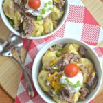 Pressure Cooker Hot Beef Sundaes
