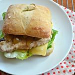 Autumn Pork Chop Sandwich with Pears and Fig Jam