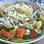 Eggs Benedict Pasta Primavera