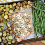 Everything Bagel Sheet Pan Salmon