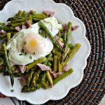 Runny Egg Warm Asparagus Salad