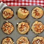 Triple Apple Oatmeal Muffins