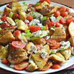 Everything Bagel Panzanella Salad