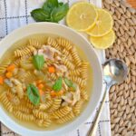Lemon Basil Chicken Noodle Soup