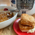 Pressure Cooker Large Batch Barbecue Pork Chop Sandwiches