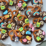 Lucky Charms Chocolate Covered Pretzels