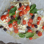 Baked Cod with Feta and Blistered Tomatoes