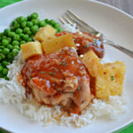 Slow Cooker Pineapple Barbecue Chicken Thighs