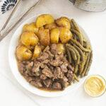 Instant Pot Maple Dijon Beef Tips